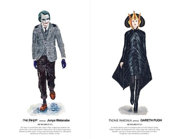 The Joker in Junya Watanabe & Padmé Amidala in Gareth Pugh -  John Woo
