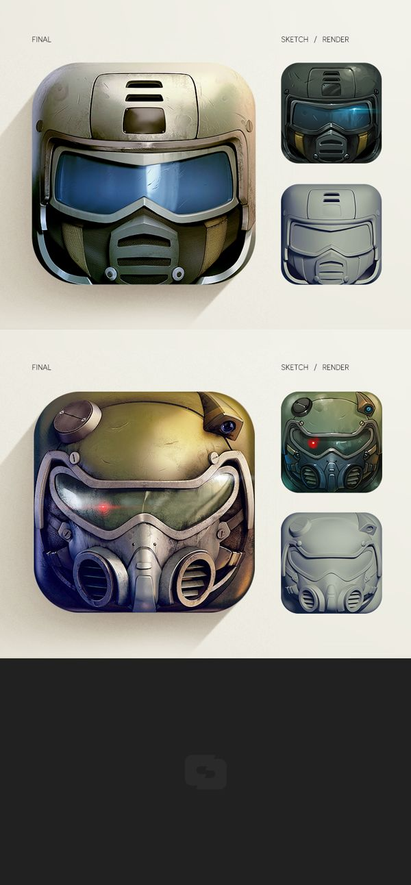 Future Soldiers App Icons by CreativeDash , via Behance http://www.behance.net/gallery/Future-Soldiers-App-Icons/9307507