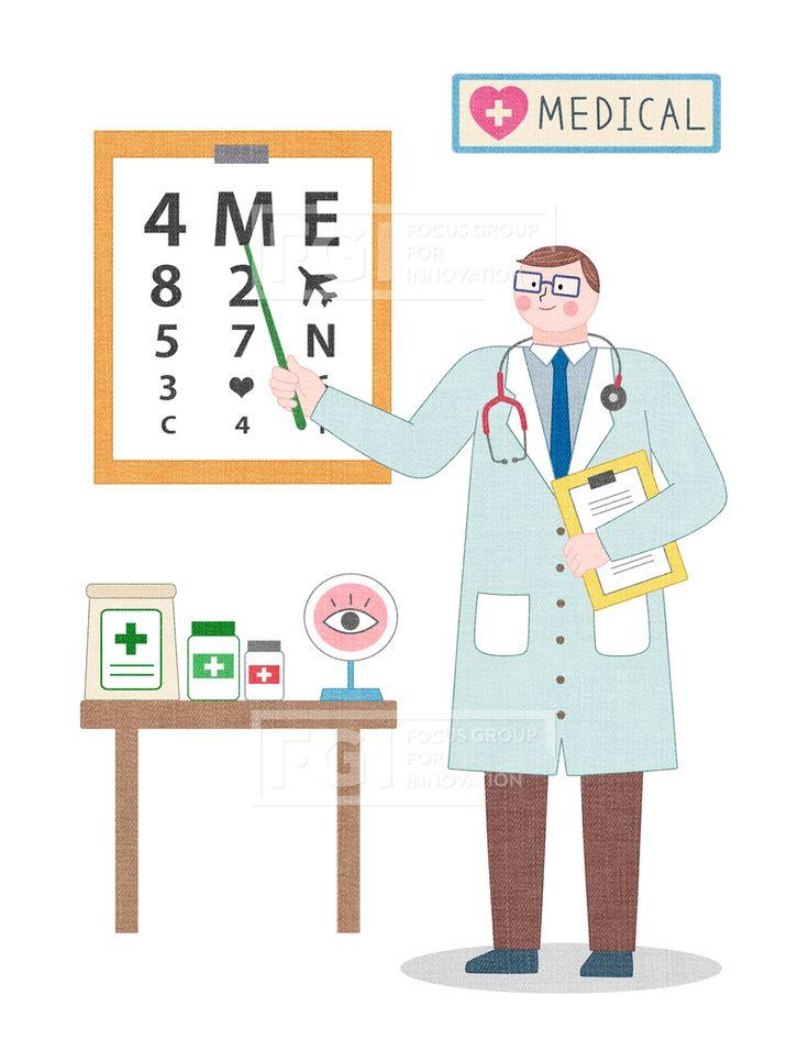 SPAI146, 프리진, 일러스트, 에프지아이, 직업, 직업군, 사람, 캐릭터, 일러스트, 비즈니스, 웃음, 미소, 행복, 손짓, 심플, 재밋는, 꿈, 장래희망, 장래, 희망, 교육, 의료, 의학, 안과, 병원, 1인, 서있는, 가르키는, 차트, 서류, 약, 청진기, 의사가운, 메디컬, 눈, 검사, 치료, 시력, 시력검사, 안경, 넥타이, 의사, 간호사, 진료, 질환, 남자, 유니폼, illust, illustration #유토이미지 #프리진 #utoimage #freegine 20027654