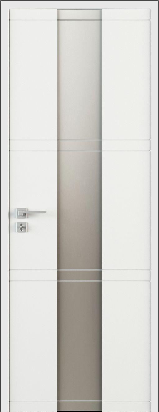 Drzwi ekskluzywne klasyczne lakierowane wewnętrzne drewniane na wymiar białe/szare LR31