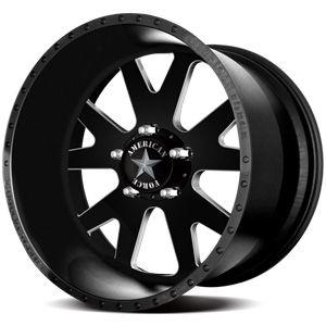 American Force Baus SS5 Flat Black Machined Windows Custom Truck Wheels & Rims