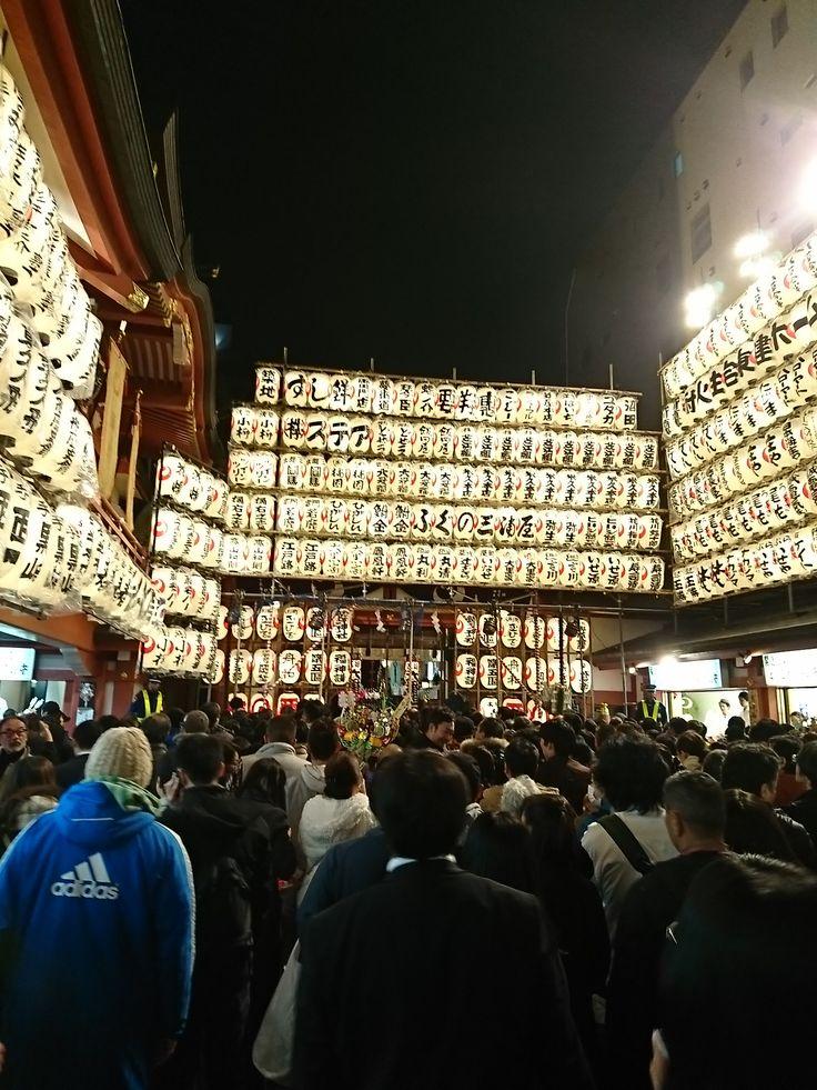 """TORI-NO-ICHI""CELEBRATION OF THE OHTORI SHRINE ""Tori-no-Ichi""Festivals of Ohtori Shrine in Asakusa,Tokyo are held twice or thrice every November since the Edo era.(the Chistian era 1750-1760) Nov.11,2016"