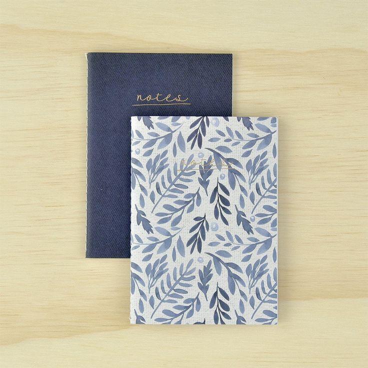 Notebook Pocket 2pk - Indigo