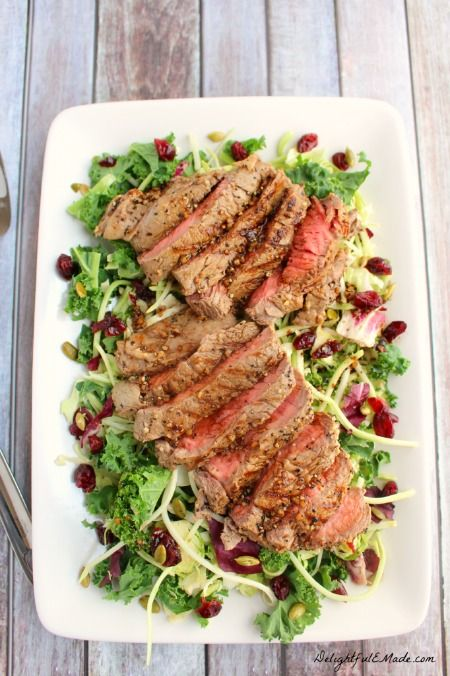 Sweet Kale and Grilled Sirloin Salad450