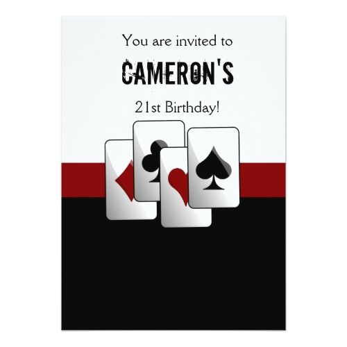 120 besten Casino Birthday Party Invitations Bilder auf Pinterest