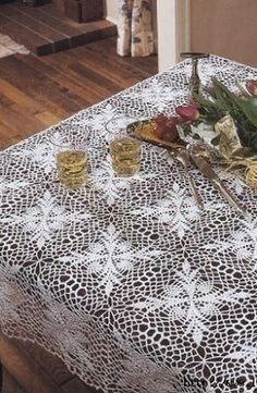 Lavoro a maglia crochet tovaglia stella