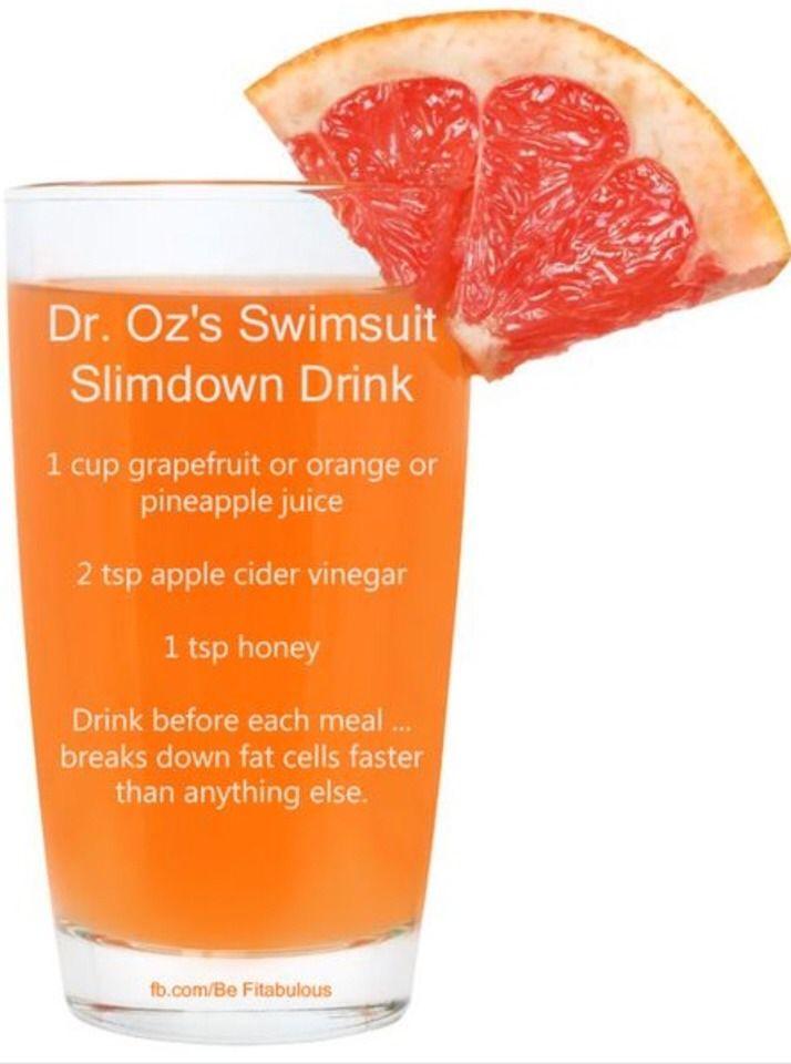 Dr. OZ's Swimsuit Slimdown Drink