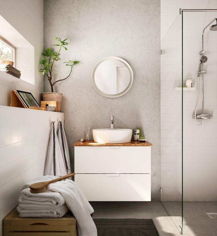 Ladekast met bamboe afwerking, verkrijgbaar zonder waskom?