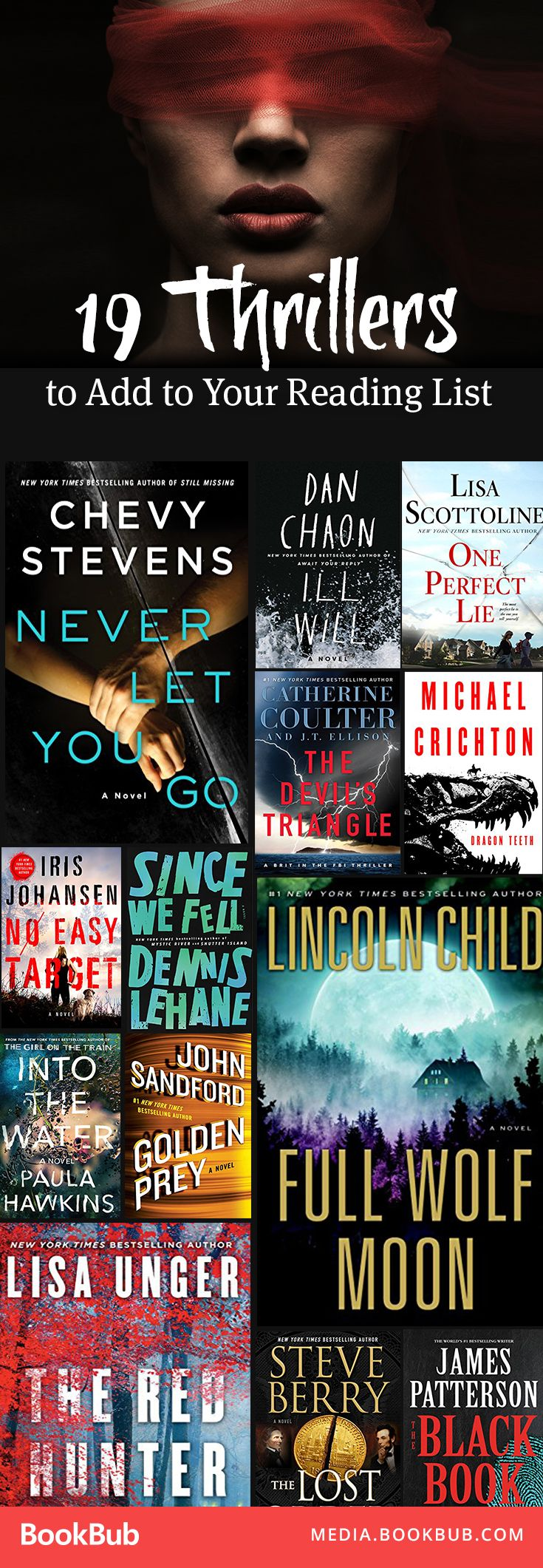 19 thriller books to add to your reading list in 2017. Including new releases from bestsellers like Michael Crichton, Paula Hawkins, James Patterson, and more.