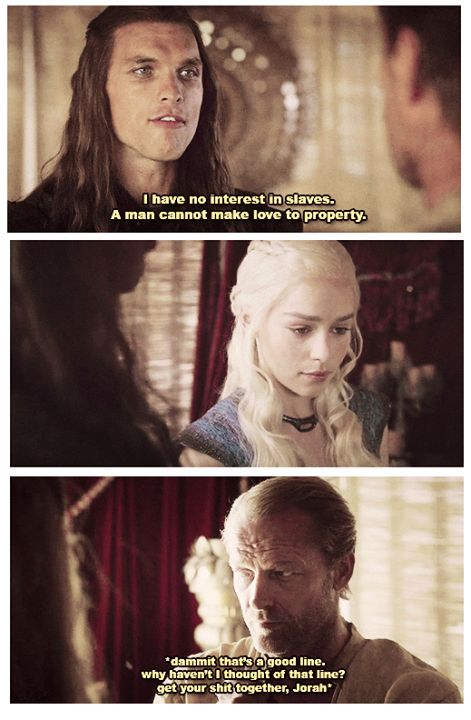 Poor Jorah.  King of the friend zone.  On a side note, I liked this original Daario WAY more!  Game of Thrones funny memes.