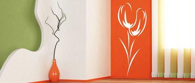 Tulipány (1241) / Samolepky na zeď, stěnu a nábytek