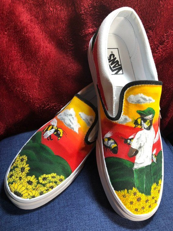82a8be8876d2 Custom Painted Vans Tyler the Creator  Flower Boy