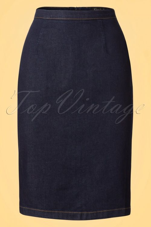 King Louie Denim Dutch Blue Tube Skirt dark blue jeans rok spijkerstof donker blauw