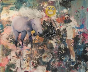 "Saatchi Art Artist vanessa uher; Painting, ""Der Urknall - The Big Bang"" #art"