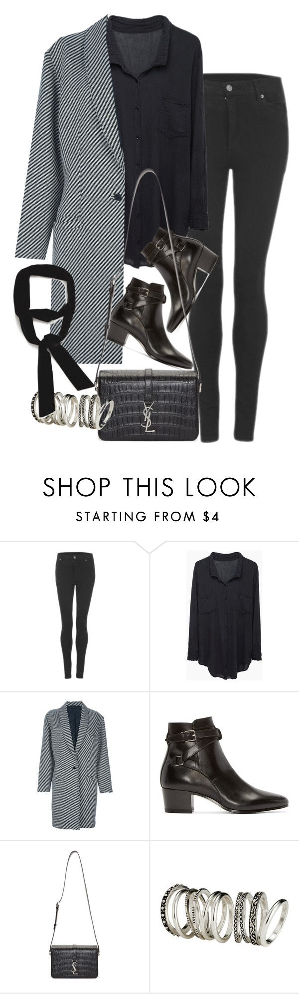 """""""Untitled #8657"""" by nikka-phillips ❤ liked on Polyvore featuring Cheap Monday, Raquel Allegra, Versace, Yves Saint Laurent, H&M, Zara, women's clothing, women, female and woman"""