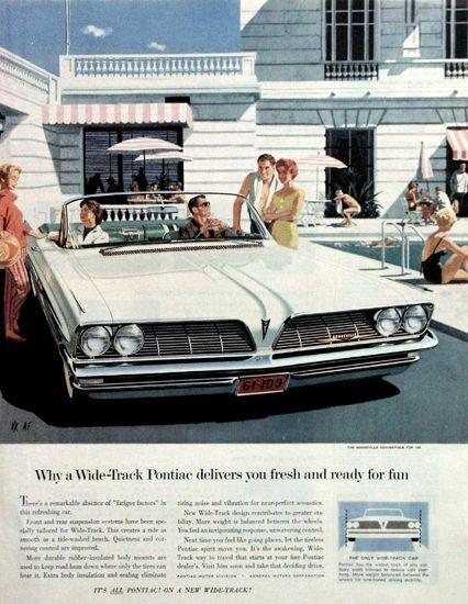 Pontiac Bonneville 1961 White - Mad Men Art: The 1891-1970 Vintage Advertisement Art Collection