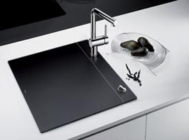 BLANCO CRYSTALLINE - the hideaway sink for small kitchensBlanco Crystalline, Blanco Sinks, Kitchens Remodeling, Blanco Blancocrystallin, Convertible Sinks, Small Kitchens, Crystalline Sinks, Blancocrystallin Black, Kitchens Sinks