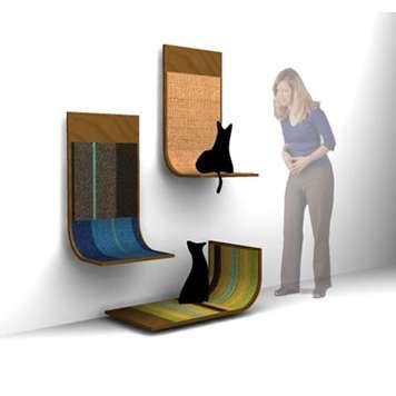 thisnext.com cat scratcher - can be used as cat shelfs for them to climb #cats #CatScratcher #CatShelf