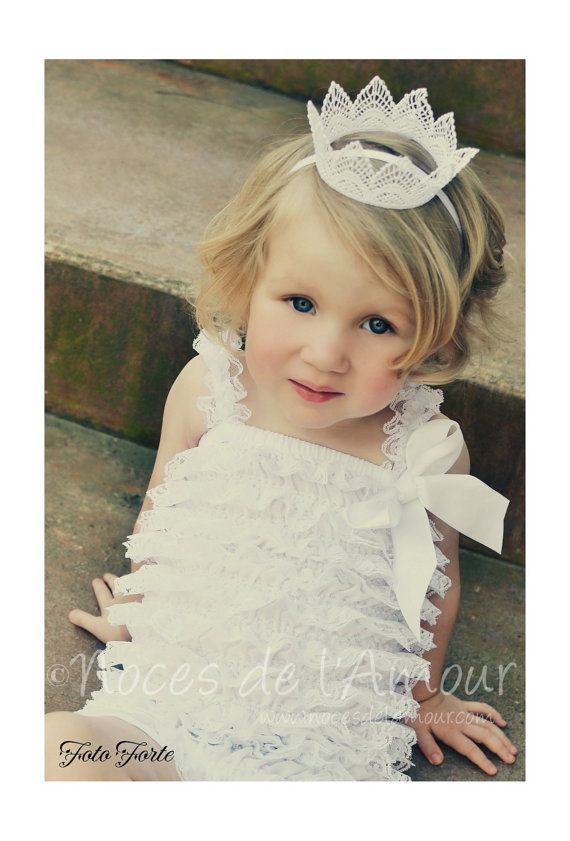 Toddler lace crown Flower girl crown photography by nocesdelamour, $16.00
