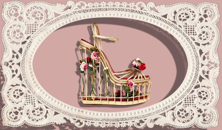 Fall Winter 2014 Accessory Trends Dolce&Gabbana Bird Cage Wedge