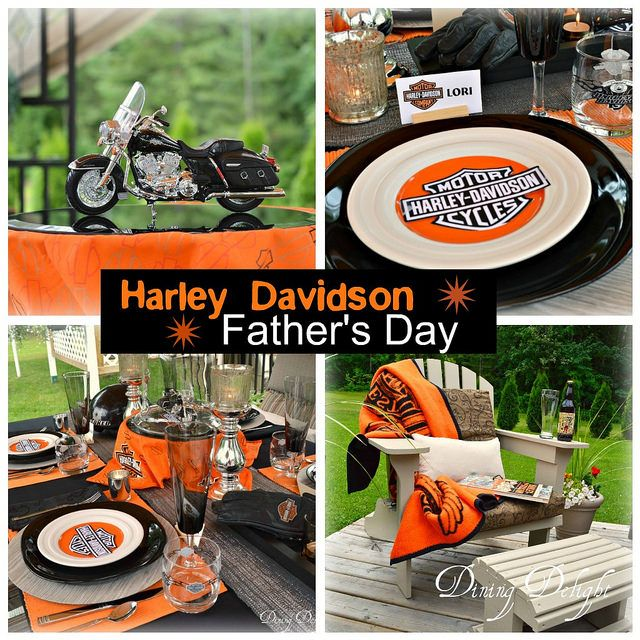 Harley Davidson Table for Father's Day