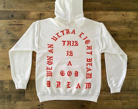 I Feel Like Pablo Hoodie White - Red Yeezus #clothing #hoodie @EtsyMktgTool http://etsy.me/2iBxabL