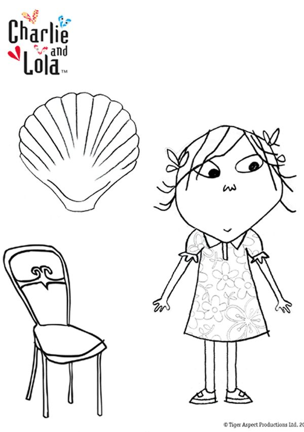 Free Online Charlie & Lola Colouring Page