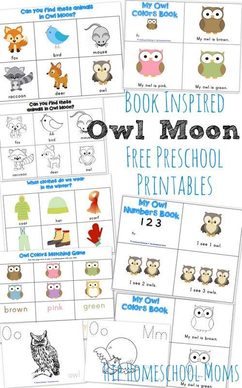 Owl Moon Inspired Preschool Printables | Hip Homeschool Moms