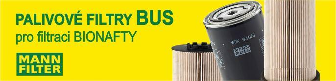 Palivové filtry BUS pro filtraci bionafty