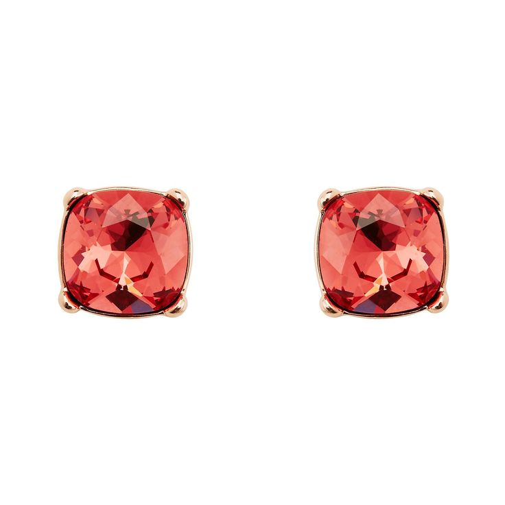 Ears popping? Our latest Mimco Jewel Stud features sparkly poppy-hued Swarovski crystals to give your look that extra hit of colour.