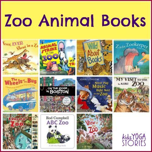 Zoo Animals Books for Children plus zoo animal yoga poses for kids ~ Kids Yoga Stories