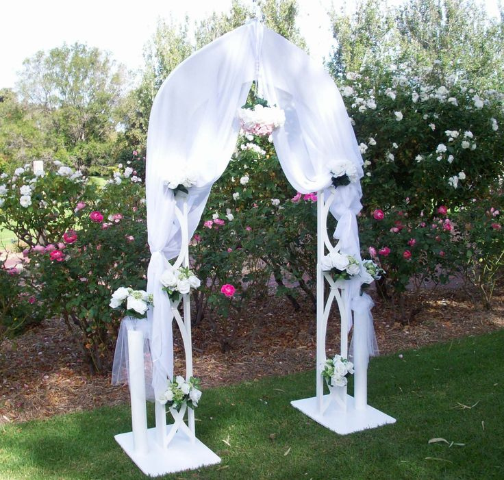 Hand built Wedding Arches for sale or rent . Quick assemble and fits into a small car for transit.