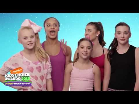 The Nickelodeon Kids Choice Awards 2016 / Vote for Dance Moms - YouTube