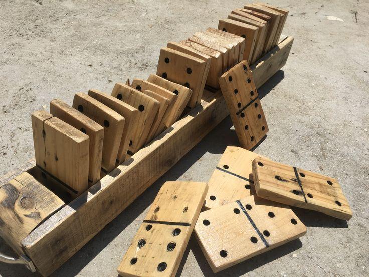 Jeux domino bois palette