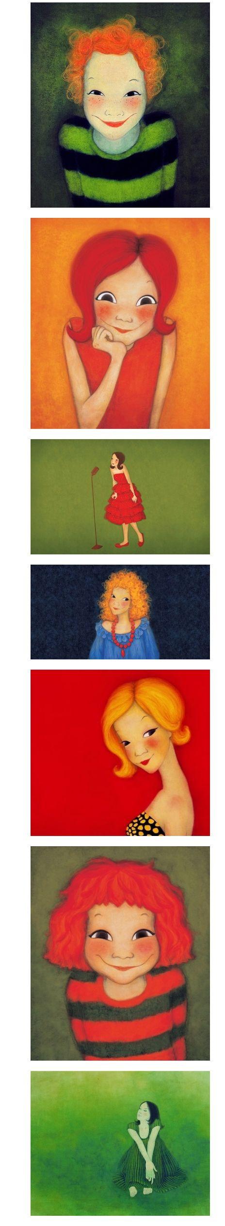 很喜欢韩国这位画家的画风。作者:육심원