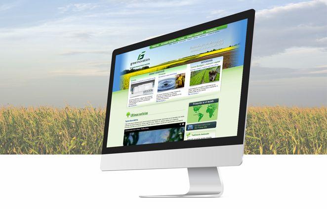 Diseño de Sitio Web Greennovation  implementado en Wordpress
