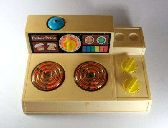 Vintage Fisher Price Stove Top 1978 by udaskids on Etsy, $24.50