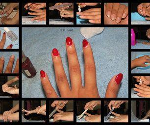 At home salon manicure...