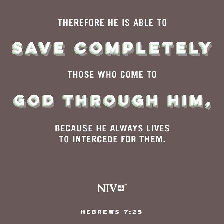 NIV Verse of the Day: Hebrews 7:25