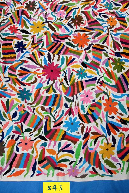 Mexican Otomi Tenango Textiles | Otomi indian embroidery from Tenango de Doria Hidalgo,Mexico | Flickr ...