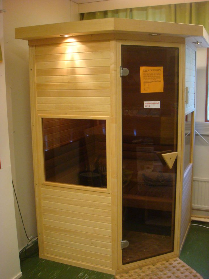 Small infrared sauna in factory shop.  www.saunalahja.fi