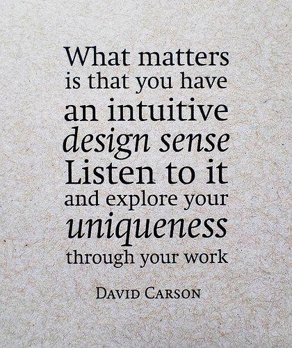 Uniqueness | David Carson's quote on design #Carson #design #Quote #Typography