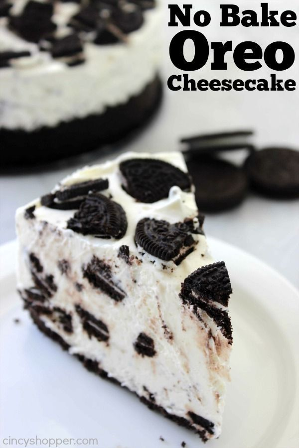 This simple No Bake Oreo Cheesecake looks and tastes like it could be on the menu of a high end restaurant. Loaded up with Oreo cookies, it will be a favor