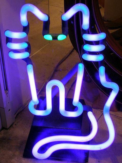 Cool neon cat light