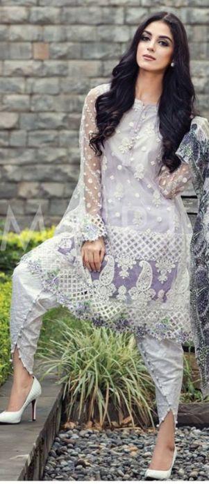 Beautiful Maria B Designer Silk Chiffon Dresses For Eid 2016 #EidDresses #DesignerEidDresses
