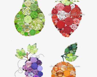 Ananas-gelbe 5 x 7 Button Kunst Button-Kunstwerke von CherCreations