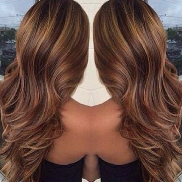Perfection  chocolate brown with a full weave of golden blonde highlights/lowlights ... | Use Instagram online! Websta is the Best Instagram Web Viewer!