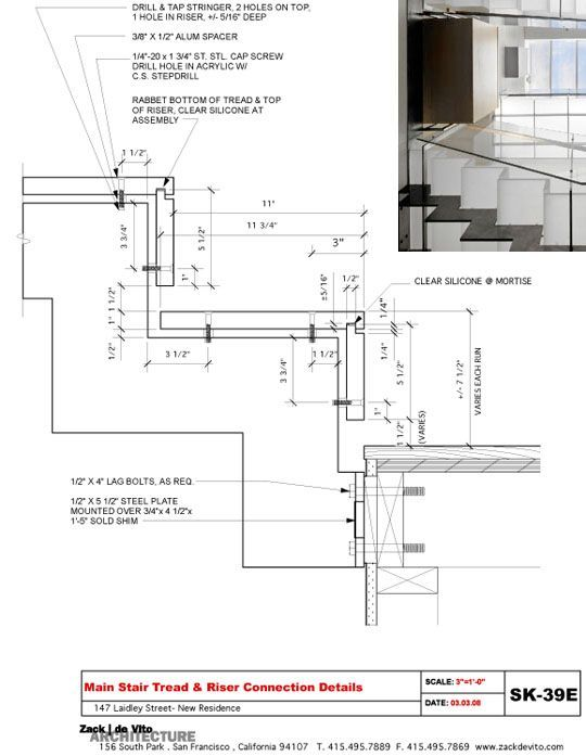 LAIDLEY STAIRTREAD DETAIL1 Zack/deVito Architecture: Designers and Master Builders, Part 1: