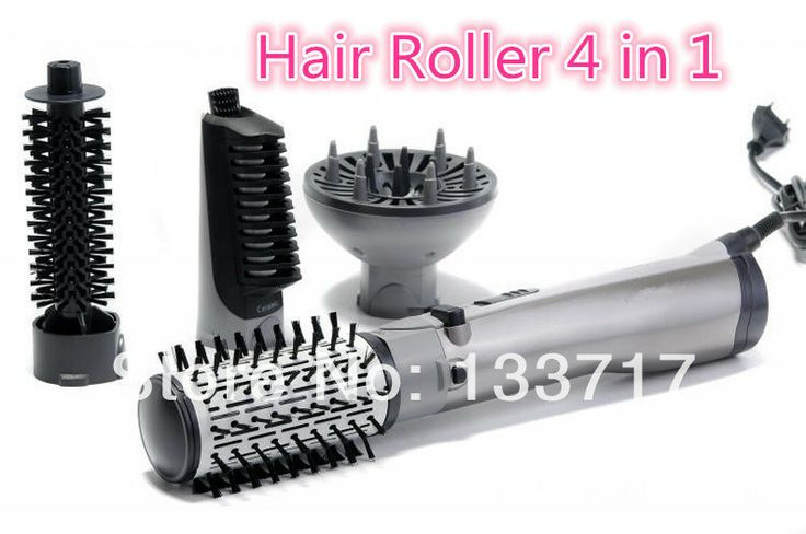 Hot air comb electric hair drier hair styling brush comb 4in1 rotating brush hair comb hair styler air brush.-in Hair Rollers from Beauty & ...