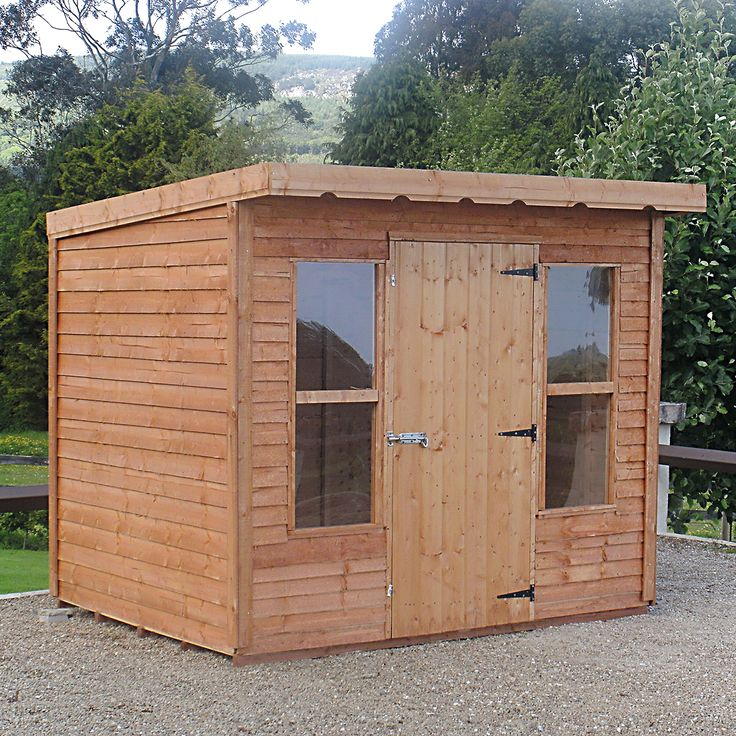 Rustic Garden Sheds | The Rustic Lean To Style Shed Comes In 5 Different  Sizes.